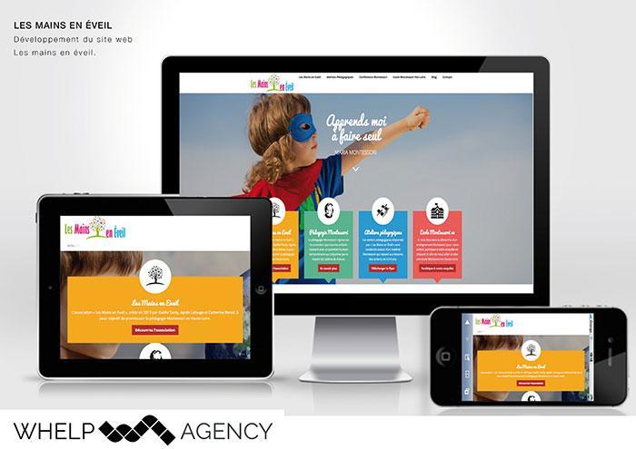 Whelp Agency - Créatio ndu site Les Mains en Eveil