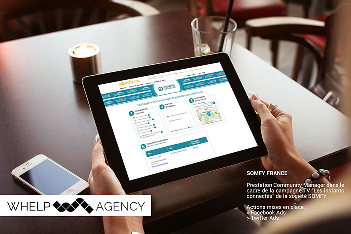 Whelp Agency : Acquisition de lead pour le client SOMFY via campagne Facebook Ads