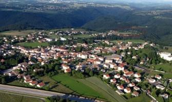 Vue aérienne de la commune