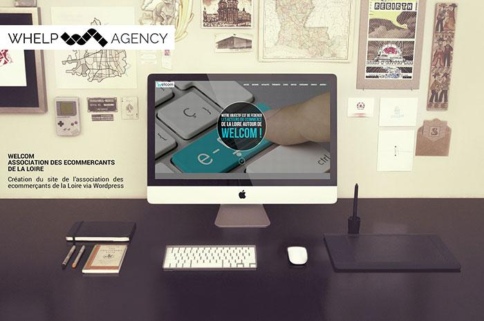 Whelp Agency : Création du site de l'association des ecommerçants de la Loire WELCOM