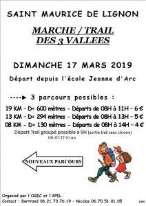 Marche/Trail des 3 vallées