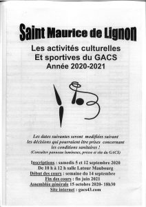 Dates d'inscriptions GACS