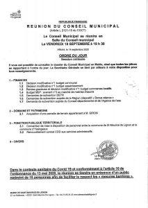 Ordre du jour CM 18-09-2020